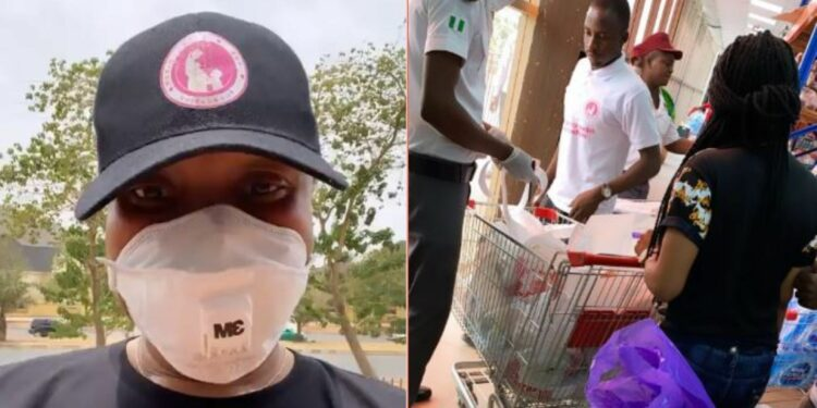 Tonto Dikeh buys foodstuffs and other supplies for all her team members