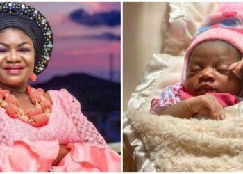 Veteran Actress Joke Muyiwa Shows Off Her New Grandchild (PICS)