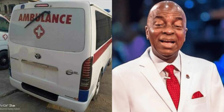 Coronavirus: Bishop Oyedepo donates Ambulances, Test Kits, Food, to Lagos and Ogun State