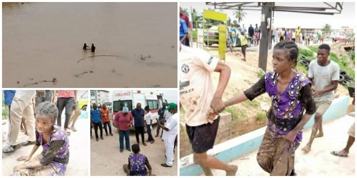 Woman Jumps Into Osun River Over Hunger Caused By Lockdown (Photos)