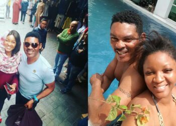 'Small cuddle, oga will sleep off. I'm not interested again' - Omotola Ekeinde hilariously drags her husband Capt. Ekeinde
