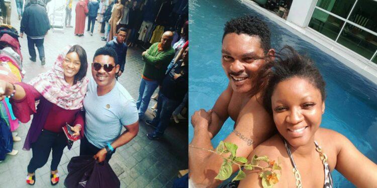 'Small cuddle, oga will sleep off. I'm not interested again' - Omotola Ekeinde hilariously drags her husband Capt. Ekeinde