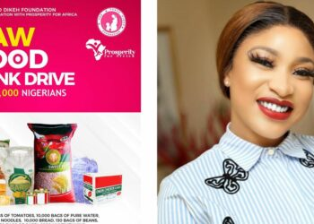 Tonto Dikeh set to donate foodstuffs & drinks to 5,000 Nigerian households (Photos)