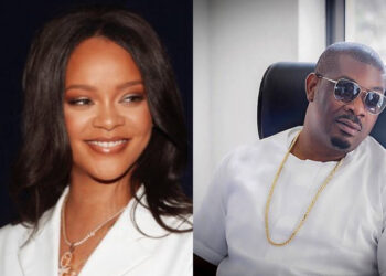 Nigerians react as Don Jazzy and Rihanna have a nice time in his bedroom (Photo)