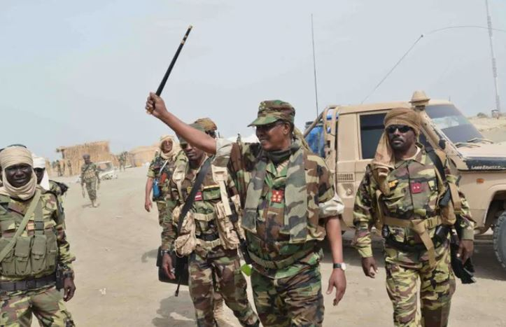 Chadian soldier led by President Debby capture Boko Haram's arms store in Sambisa