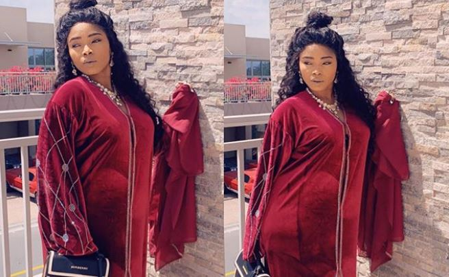 Actress Halima Abubakar shares 'Never seen' picture of herself pregnant