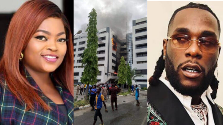 You guys should arrest your politicians now -Burna Boy reacts to the fire outbreak at the office of the Accountant General