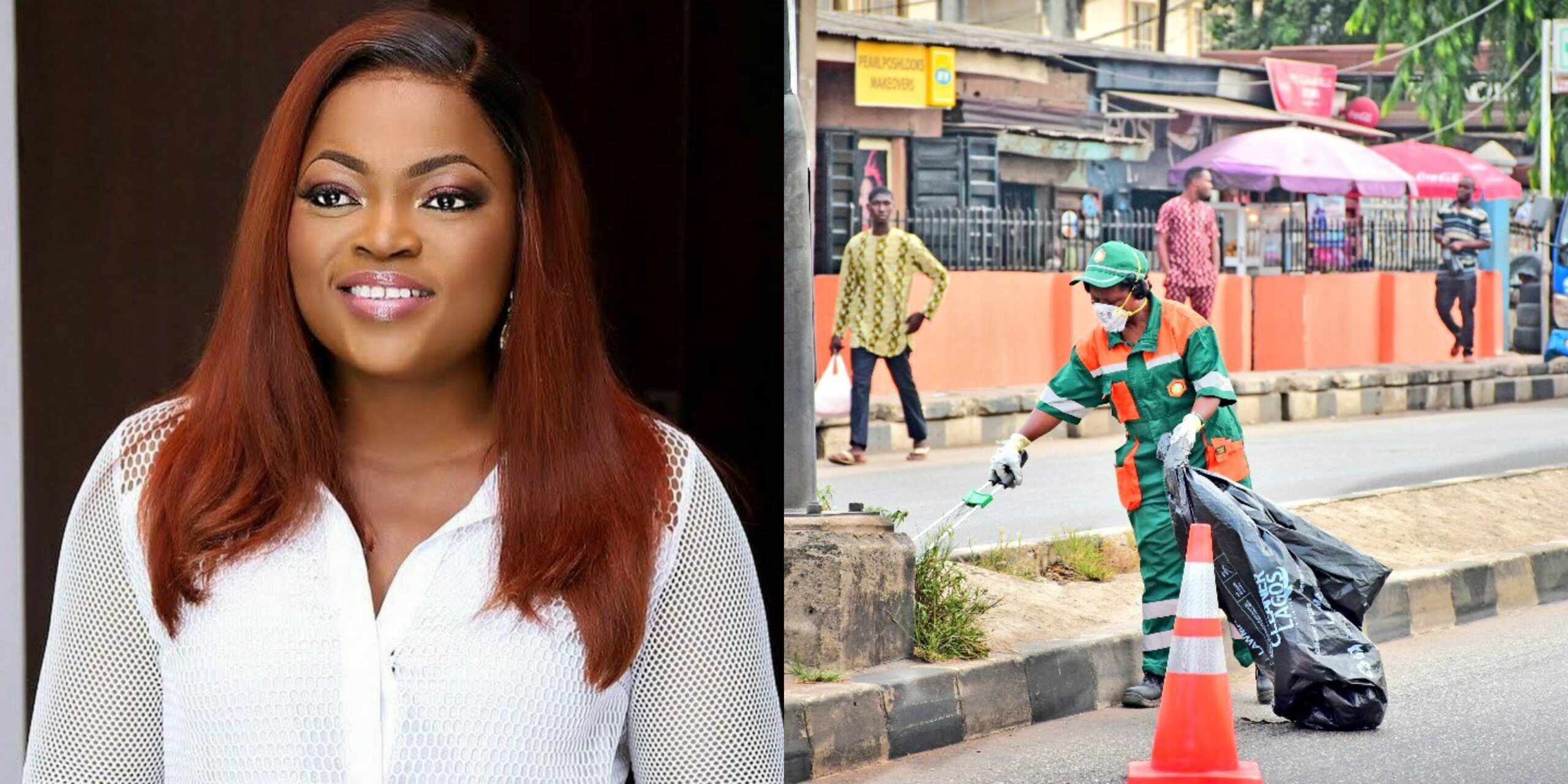 New details emerge on viral photo of Funke Akindele cleaning the streets as punishment