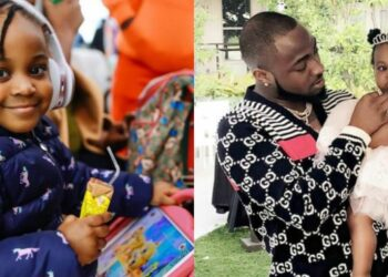 Take a look at Davido's second daughter, Hailey Adeleke's recent photo -She is such a big girl now!