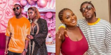 Yvonne Jegede and Orezi spark up dating rumours as they frolic with each other at a party (Video)