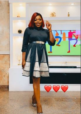Funke Akindele rises from her ruins; dusts self up as she posts for the first time on Social media (Photos)