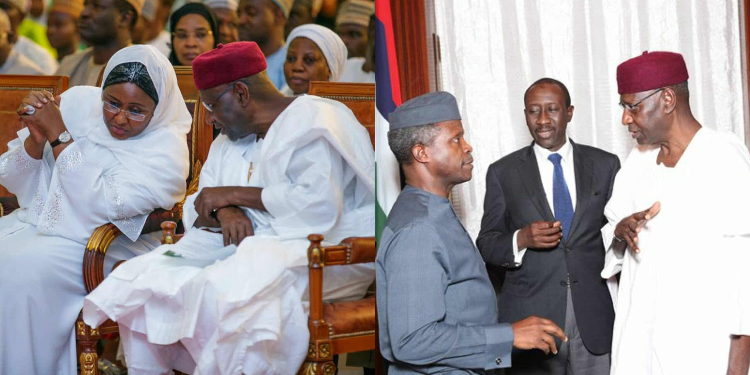 Yemi Osinbajo, Dolapo Osinbajo and Aisha Buhari react to the death of late Cos Abba Kyari