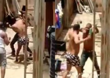 Two Nigerian men combat to death while defending their quarreling wives in the same compound (Video)