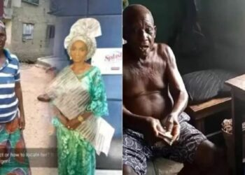 Old woman who offered her body for 500 naira donates 20K to ailing actor, Baba Legba