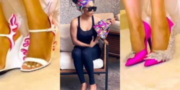 I can wear different pairs of shoes for 60days without repetition -Toke Makinwa shows off her impressive shoe collections (Video)