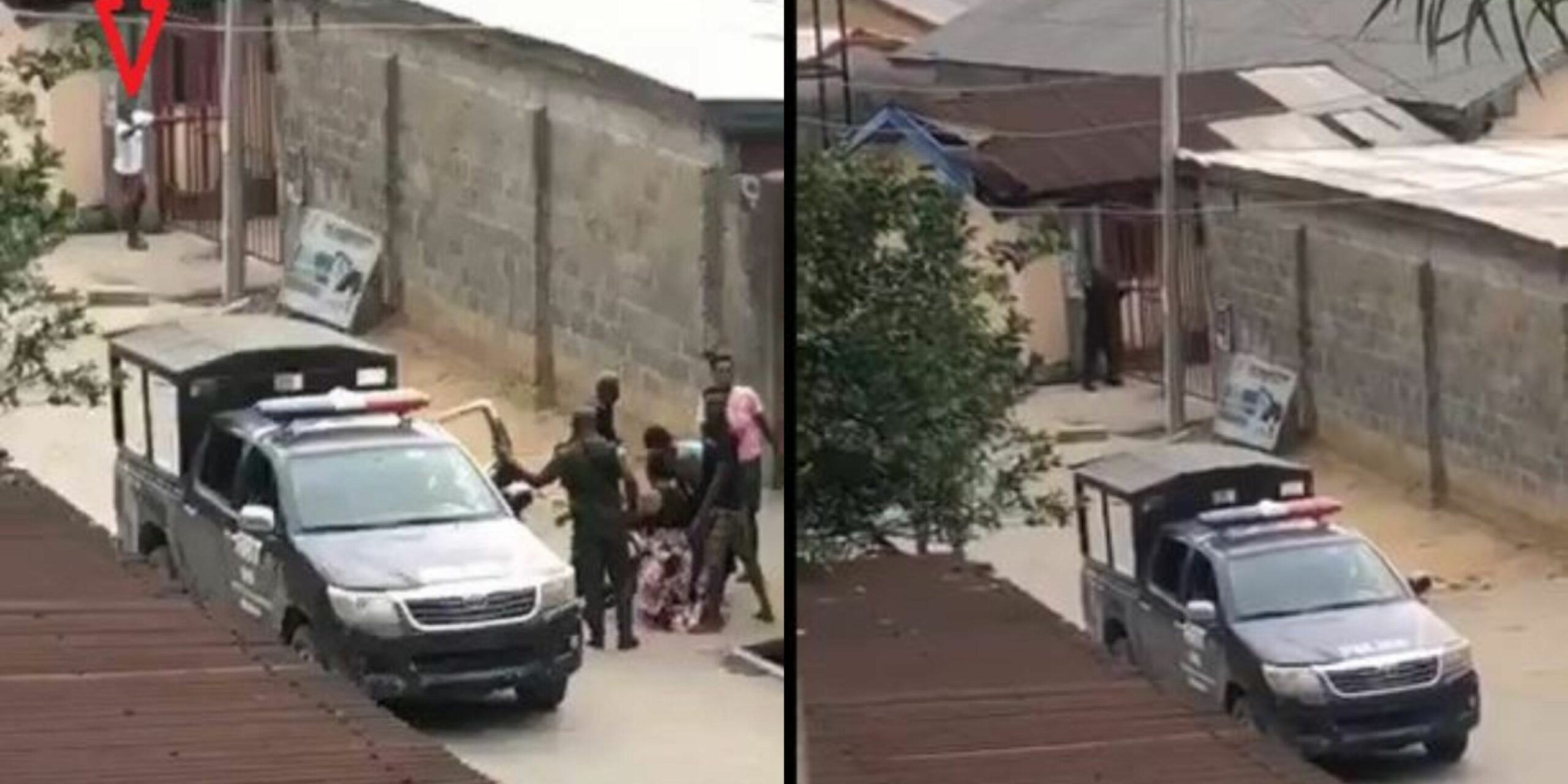 Police officer shoots at man protesting the assault on his neighbor in Port Harcourt (Video)