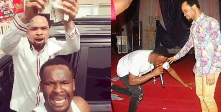 Nigerians dig up old video of Zubby Michael testifying in Prophet Odumeje's church after he denied him