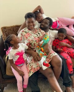 'All we are doing today is play, dance and eat cake' -Mercy Johnson says as she shares lovely family photos
