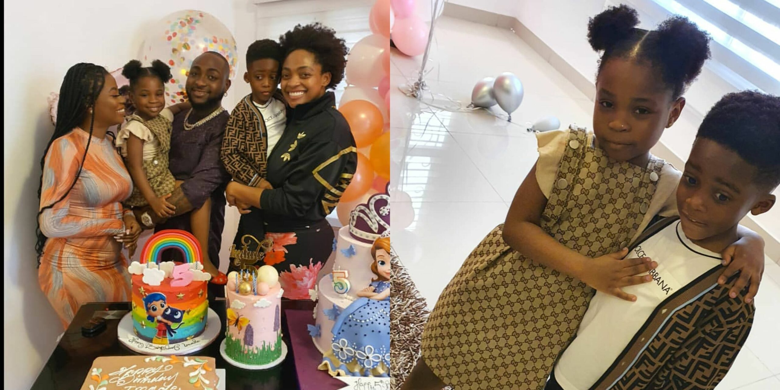 Tiwa Savage's son Jam Jam visits his bestie, Imade on her 5th birthday