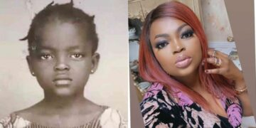 Funke Akindele shares throwback pictures of her childhood
