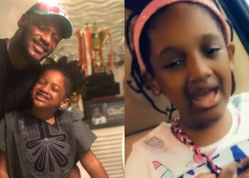 Music runs in the blood - Watch 2face's daughter, Olivia's passionate rendition of Simi's Duduke (Video)
