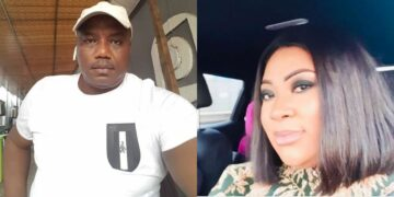 Mercy Aigbe's ex husband takes a dig at her as he celebrates new wife on her birthday (Photos)