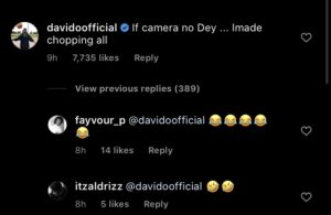 If there was no camera, Imade would eat it - Davido reacts to Imade and Jamil's snack challenge
