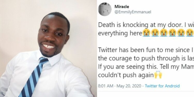 Social media users come together as they try rescue man who has given up on life