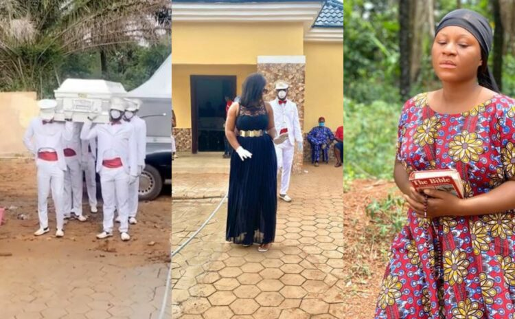 First photos from the burial of Destiny Etiko's father in Enugu