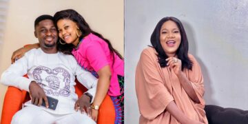 Toyin Abraham finally reacts after her Ex-Husband, Adeniyi Johnson said he didn't cheat on her