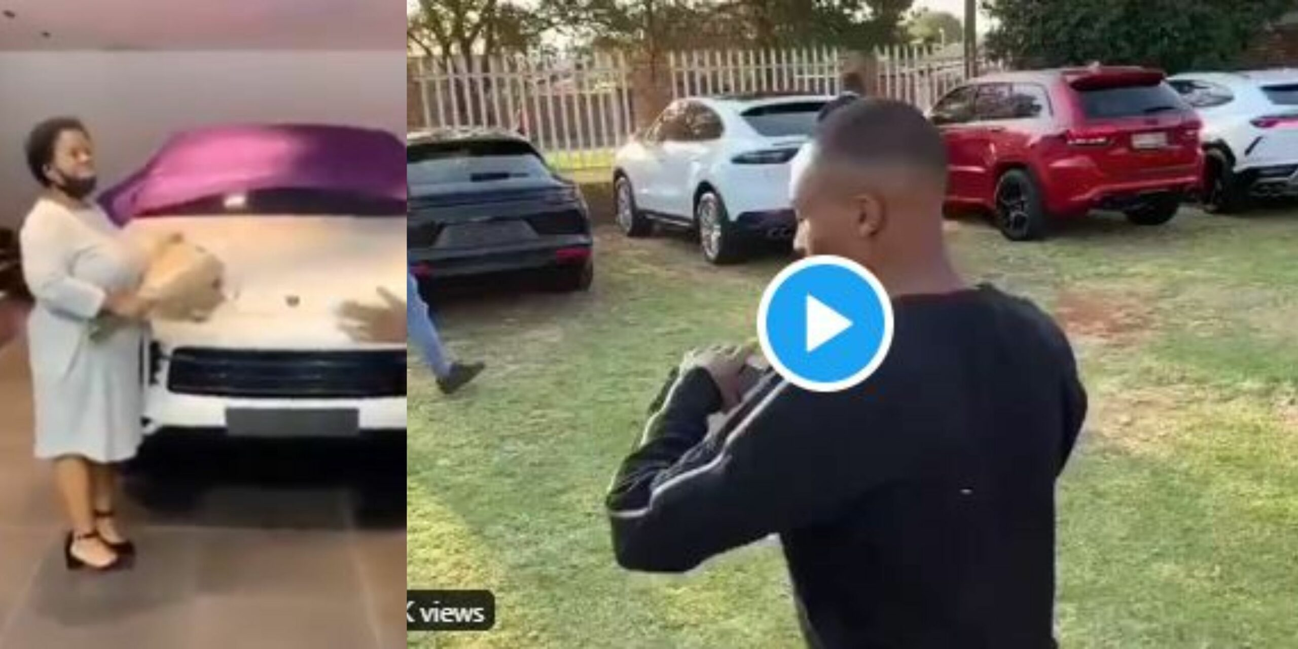 Man goes viral on Social media after buying Lamborghini, Jeep and three 2020 Porsches for his children and mother on same day (Video)