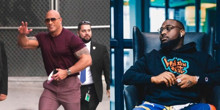 American actor Dwayne Johnson confirms that Davido is the best (video)