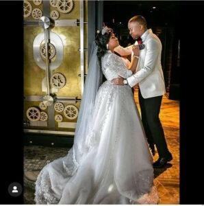 Toolz Onirus and husband Tunde Demurin celebrate 4years wedding anniversary with cheeky photos