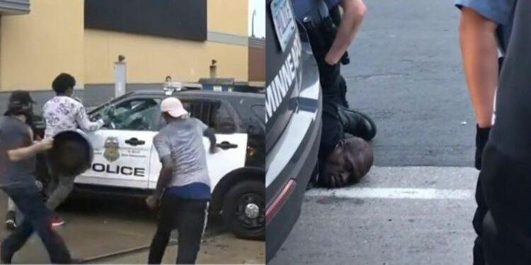 Goerge Floyd: Fierce Minneapolis protesters vandalise police properties, demands justice or no peace (Photos, video)
