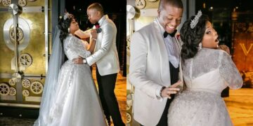 Toolz Oniru and husband Tunde Demuren celebrate 4years wedding anniversary with cheeky photos