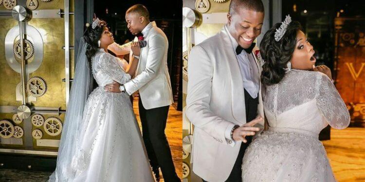 Toolz Oniru and husband Tunde Demuren celebrate 4years wedding anniversary with cheeky photos