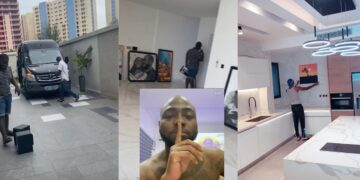 """It's a Smart House"" -Davido shows off the core interior of his multimillion dollar Banana Island mansion (Video)"