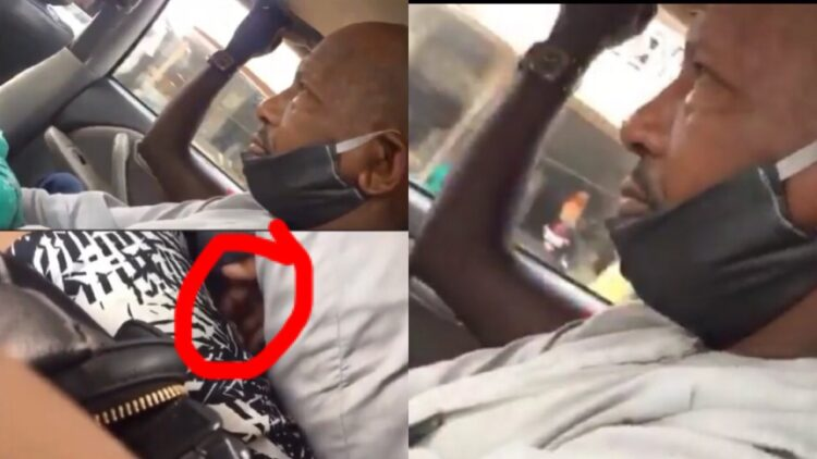 Akure to Abuja: Nigerian lady shares footage of a male passenger molesting her in 4hr drive