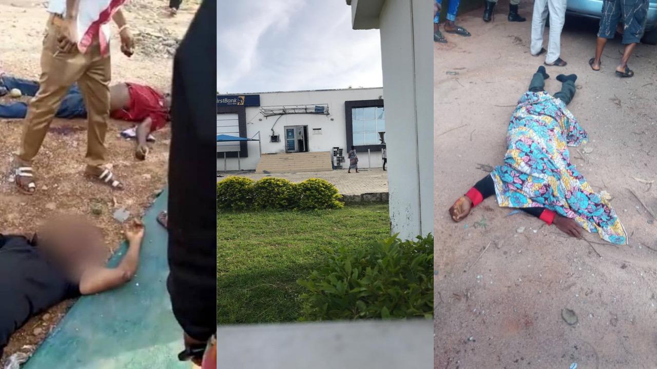 BREAKING: 18man robbery gang kill scores in First Bank, Kogi