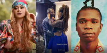 Speed Darlington fondles Nadia Buari as they caress passionately in new video