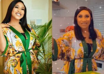 Tonto Dikeh shows off the beautiful and spacious kitchen in her new Abuja home (Video)