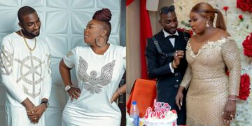 Anita Joseph's husband's message to her on their 3rd year anniversary sparks controversy on Social media (Photos)