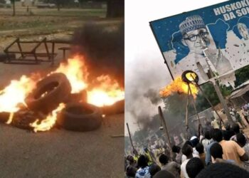 Kastina youths protest increased spate of killings and kidnapping in the state, set fire on APC bill