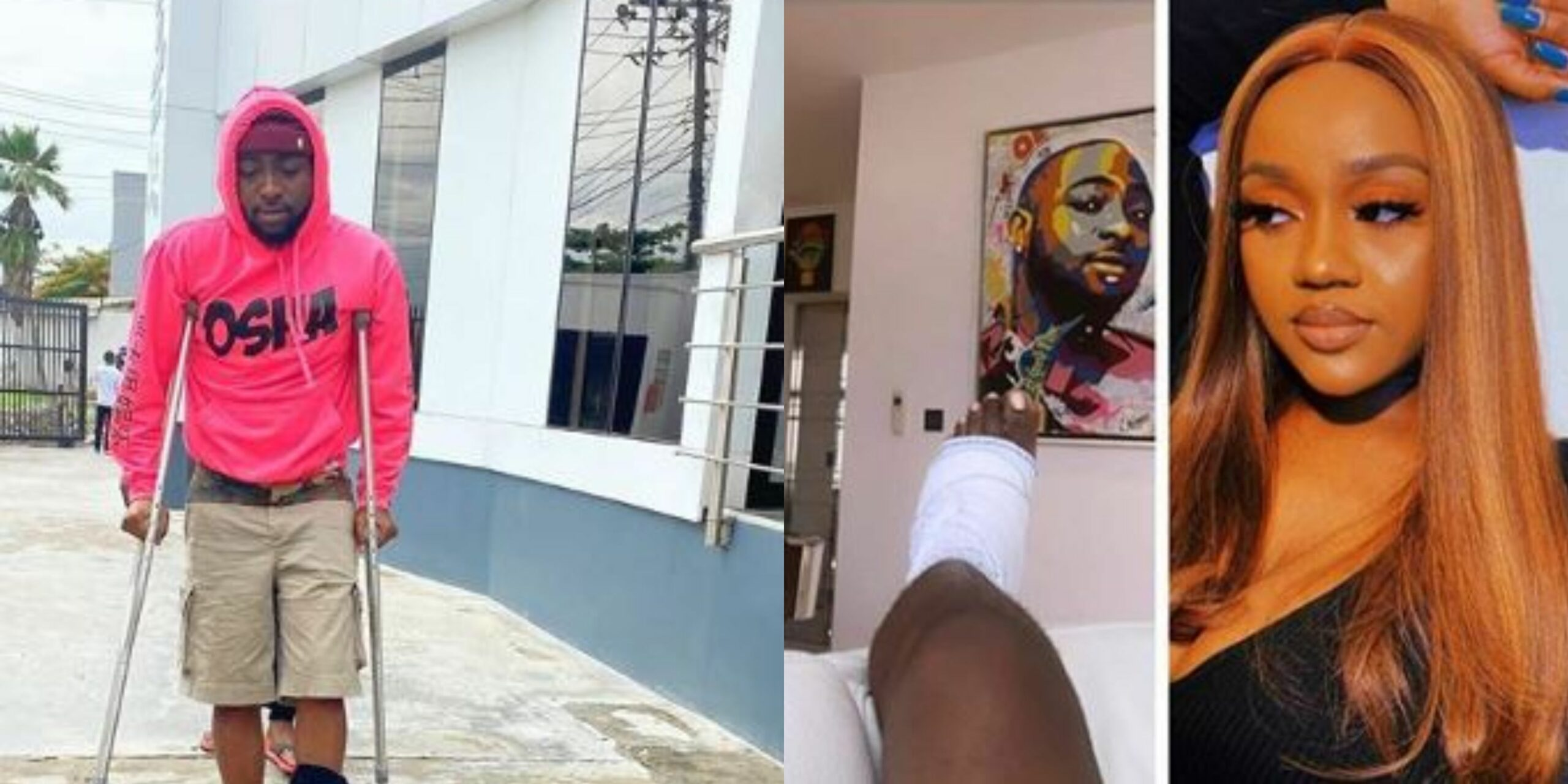 Chioma accused of inflicting injuries on Davido after finding out he cheated on her (Photos)