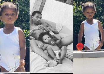 Wizkid shares adorable video of his son, Zion, playing by a waterfall in his London mansion