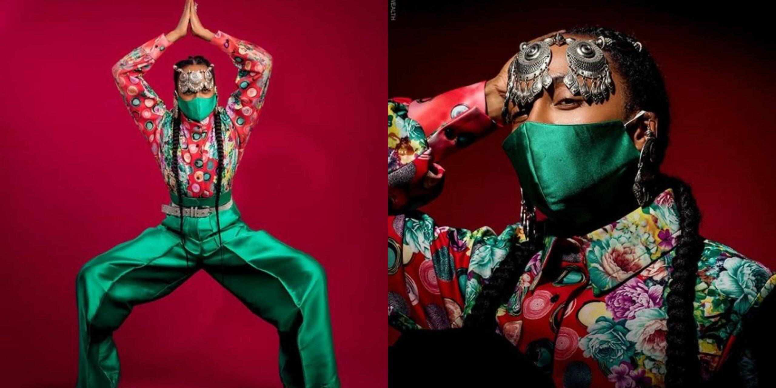 "Denrele Edun goes ""Ninja style"" in new photos as he turns 39 today"