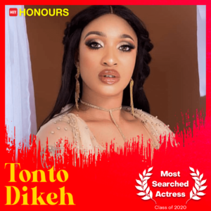 The Net Awards: Tonto Dikeh becomes the most searched Nigerian actress on the internet