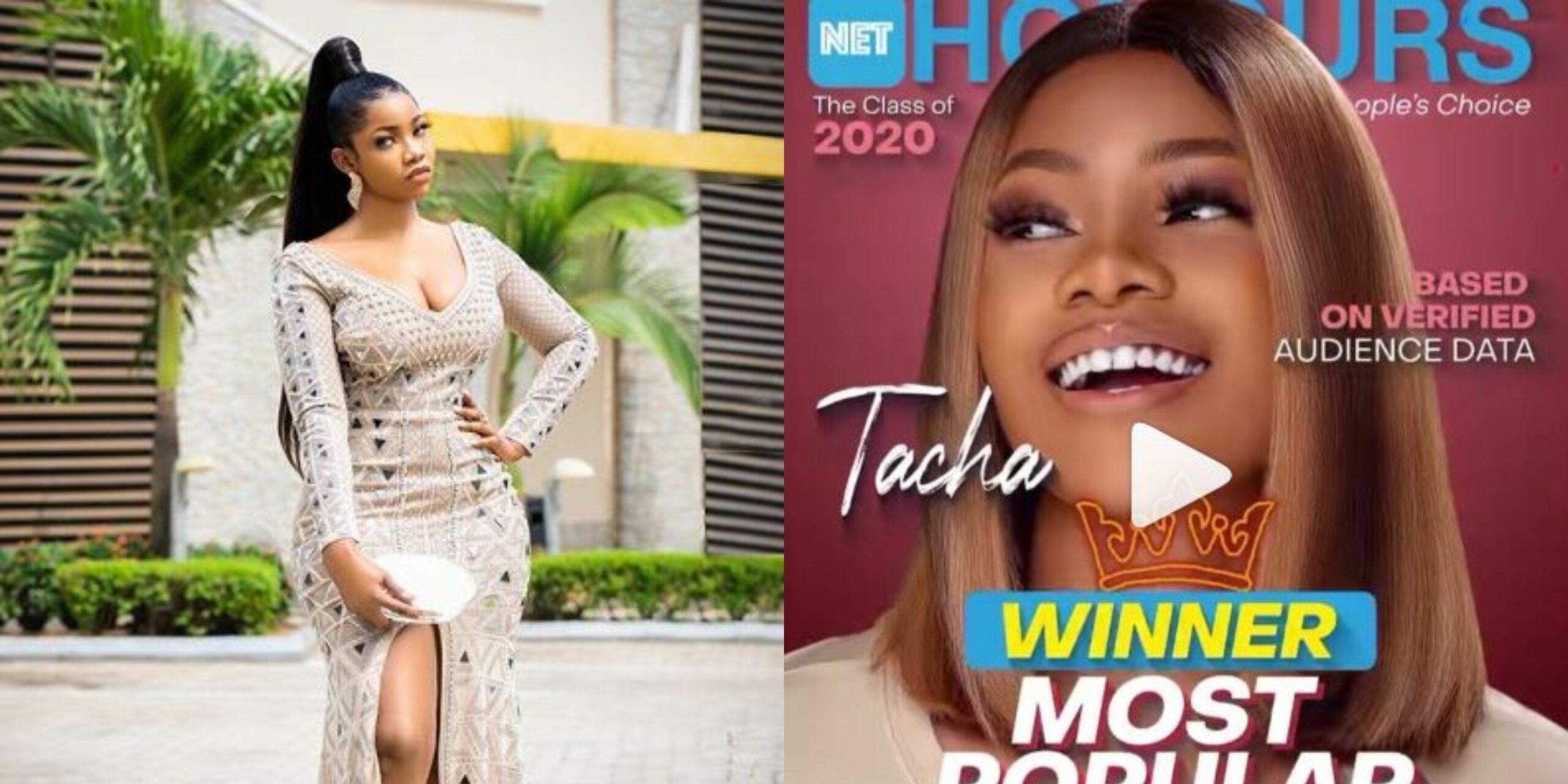 Net Honours 2020_ Tacha emerges most popular BBNaija star