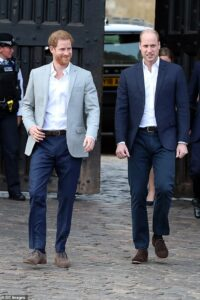 Prince William has been keeping in touch with his brother Harry in the US via 'low key' Zoom chats,