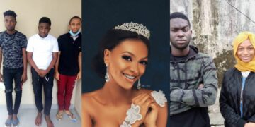 EFCC arrest budding social media female comedian, Adeherself and four others for alleged Internet fraud